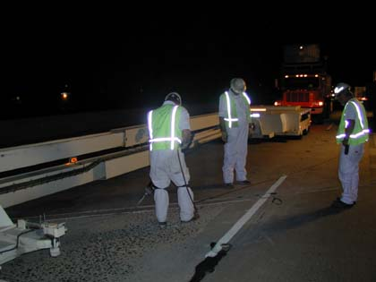 Mobile Work Zone Barrier